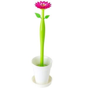 Escobilla WC original VIGAR con forma de flor