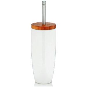 Escobilla váter madera KELA © con escobillero ceramica para WC