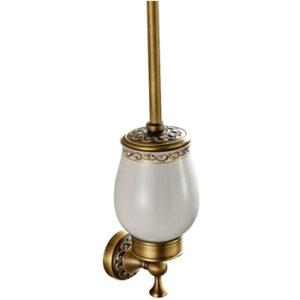 tradicional Escobilla decorativa dorada para cuarto de baño