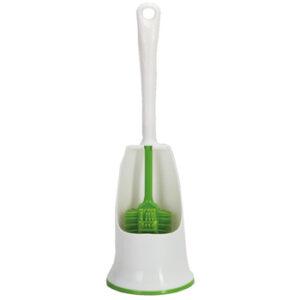 Escobilla de silicona y soporte UPP para WC, verde