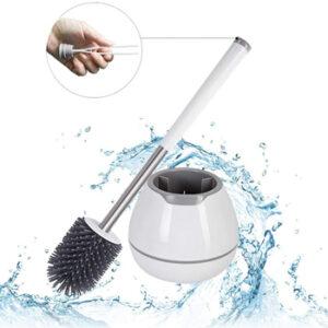 Wanxida Cepillo y Soporte para escobilla Inodoro de Silicona